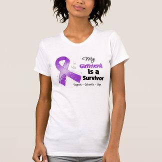 My Girlfriend is a Survivor Purple Ribbon Tee Shirts