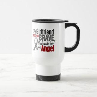 My Girlfriend Is An Angel 1 Brain Cancer Travel Mug