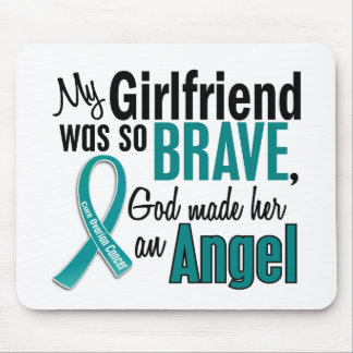 My Girlfriend Is An Angel 1 Ovarian Cancer Mouse Pad