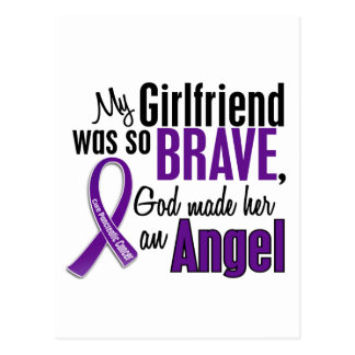 My Girlfriend Is An Angel Pancreatic Cancer Postcard