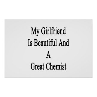My Girlfriend Is Beautiful And A Great Chemist Poster