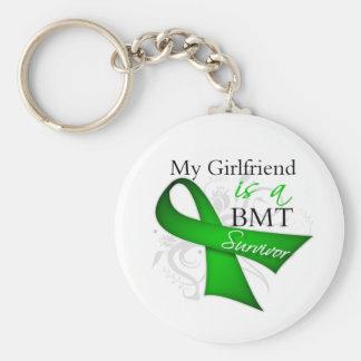 My Girlfriend is Bone Marrow Transplant Survivor Basic Round Button Keychain
