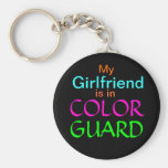My Girlfriend is in Color Guard Basic Round Button Keychain