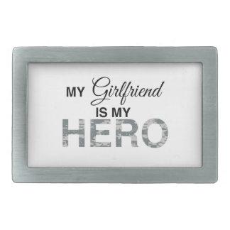 My Girlfriend is my Hero Digital Camouflage Rectangular Belt Buckle