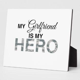 My Girlfriend is my Hero Digital Camouflage Display Plaque