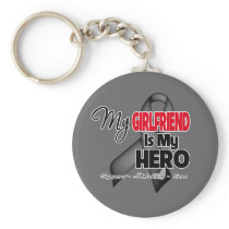 My Girlfriend is My Hero - Skin Cancer Keychain