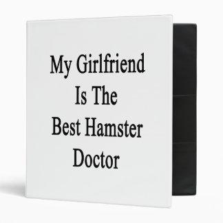 My Girlfriend Is The Best Hamster Doctor 3 Ring Binders