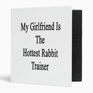 My Girlfriend Is The Hottest Rabbit Trainer Vinyl Binders