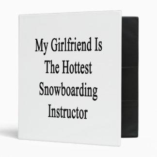 My Girlfriend Is The Hottest Snowboarding Instruct Binder