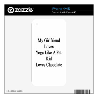 My Girlfriend Loves Yoga Like A Fat Kid Loves Choc Skin For The iPhone 4S