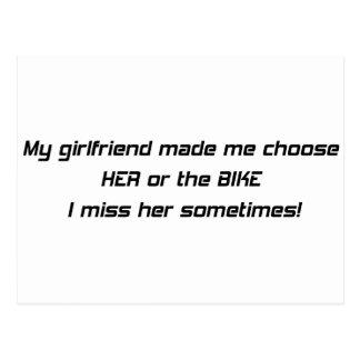 My Girlfriend Made Me Choose Between Her Or The Bi Postcard