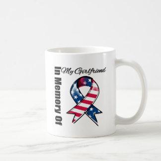 My Girlfriend Memorial Patriotic Ribbon Coffee Mugs