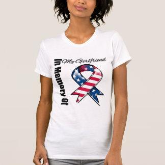 My Girlfriend Memorial Patriotic Ribbon T Shirt