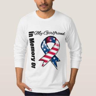 My Girlfriend Memorial Patriotic Ribbon T-shirt