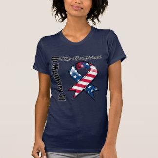 My Girlfriend Memorial Patriotic Ribbon Tshirts