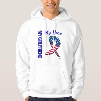 My Girlfriend My Hero Patriotic Grunge Ribbon Hoodie