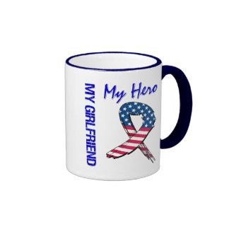 My Girlfriend My Hero Patriotic Grunge Ribbon Mug
