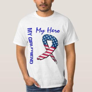 My Girlfriend My Hero Patriotic Grunge Ribbon Shirt