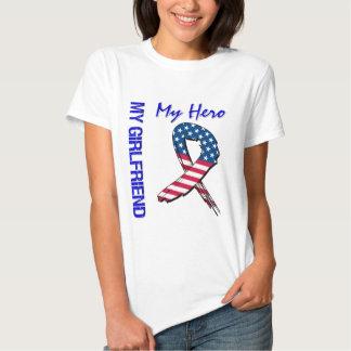 My Girlfriend My Hero Patriotic Grunge Ribbon T-shirt