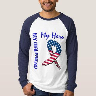 My Girlfriend My Hero Patriotic Grunge Ribbon T Shirt