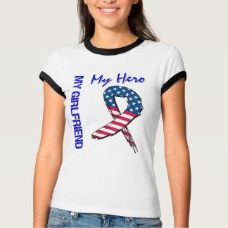 My Girlfriend My Hero Patriotic Grunge Ribbon Tee Shirt