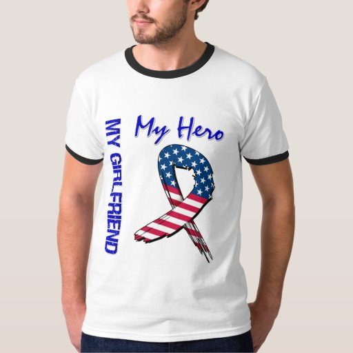 My Girlfriend My Hero Patriotic Grunge Ribbon Tees