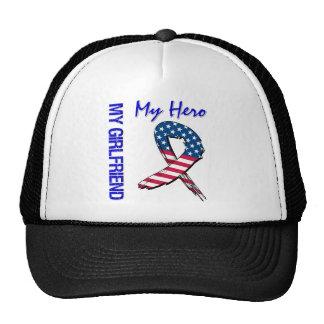 My Girlfriend My Hero Patriotic Grunge Ribbon Trucker Hat