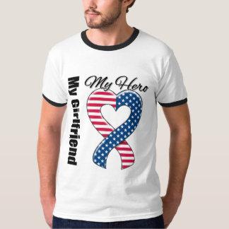 My Girlfriend My Hero Patriotic USA Ribbon Shirt