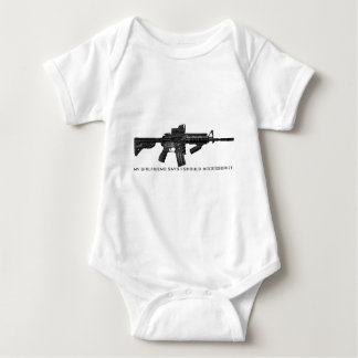 My Girlfriend Says I Should Accessorize AR15 Baby Bodysuit