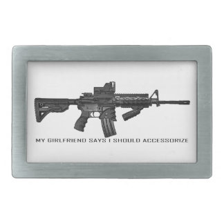 My Girlfriend Says I Should Accessorize AR15 Rectangular Belt Buckle