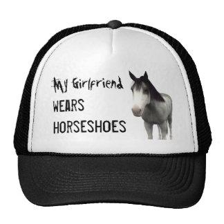 My Girlfriend Wears Horseshoes - Blue Roan Trucker Hat