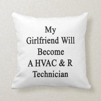 My Girlfriend Will Become A HVAC R Technician Throw Pillows