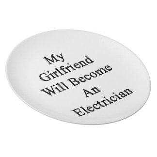 My Girlfriend Will Become An Electrician Party Plate