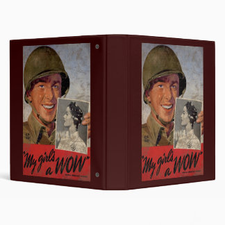My Girl's A Wow 3 Ring Binder