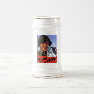 My girl's a WOW! -- WW2 Beer Stein