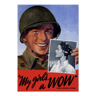My girl's a WOW! -- WWII Poster