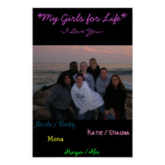 my girls poster