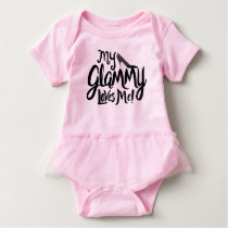 My Glammy Loves Me! Baby Baby Bodysuit