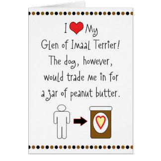 My Glen of Imaal Terrier Loves Peanut Butter Card