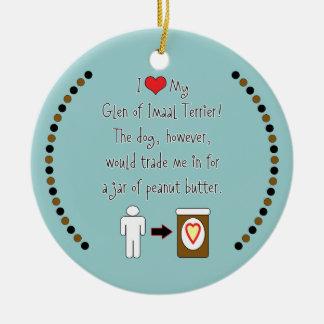 My Glen of Imaal Terrier Loves Peanut Butter Christmas Ornaments
