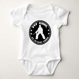 My Goal, Field Hockey (black) Baby Bodysuit