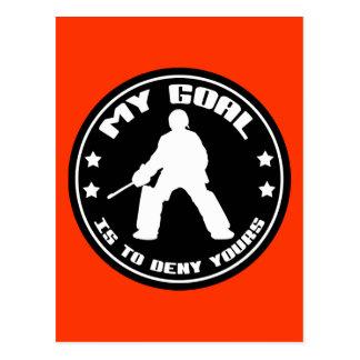 My Goal, Field Hockey (black) Postcard