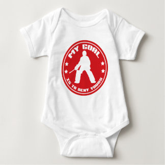 My Goal, Field Hockey Goalie Baby Bodysuit