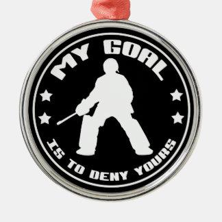 My Goal, Field Hockey Goalie Christmas Ornament