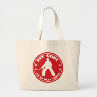 My Goal, Field Hockey Goalie Jumbo Tote Bag