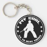 My Goal, Field Hockey Goalie Keychain