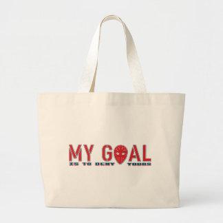 My Goal, Hockey Goalie Large Tote Bag