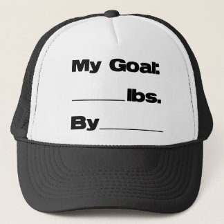 My Goal in Pounds Trucker Hat