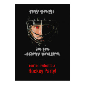 My Goal 5x7 Paper Invitation Card