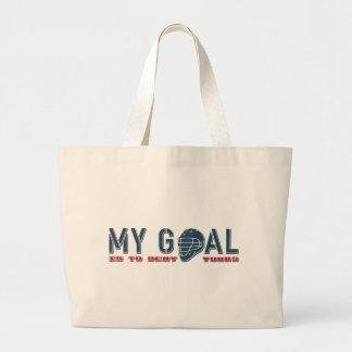 My Goal (Lacrosse) Large Tote Bag